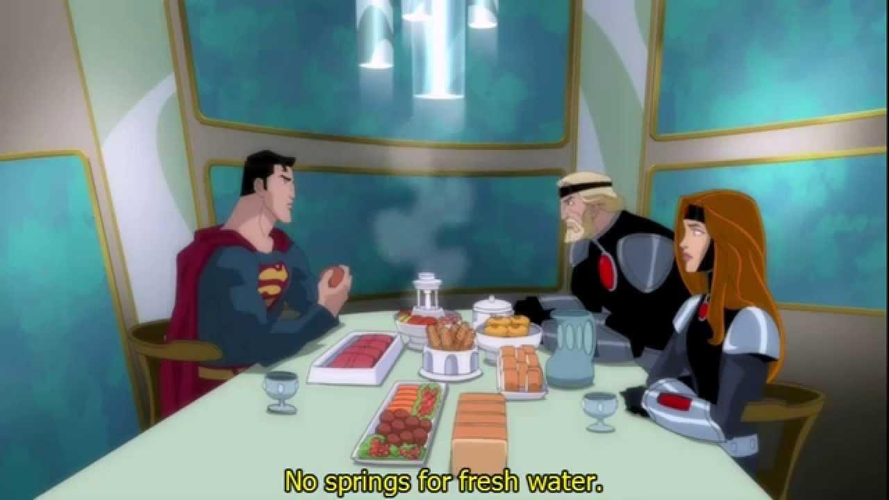 superman unbound zorel alura amp kryptonian food clip