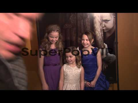 Megan Charpentier, Morgan McGarry and Isabelle Nélisse a...