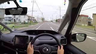 【Test Drive】 2016 New Nissan Serena Highway STAR ProPILOT Edition 4WD - POV City Drive