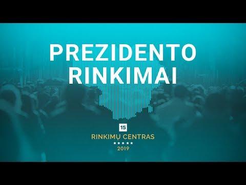 Lietuvos prezidento rinkimai 2019: speciali transliacija