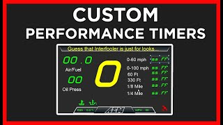homepage tile video photo for How to Add PERFORMANCE TIMERS to Your CD DASH!