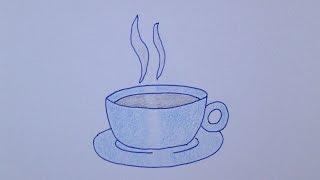 Cómo dibujar una taza