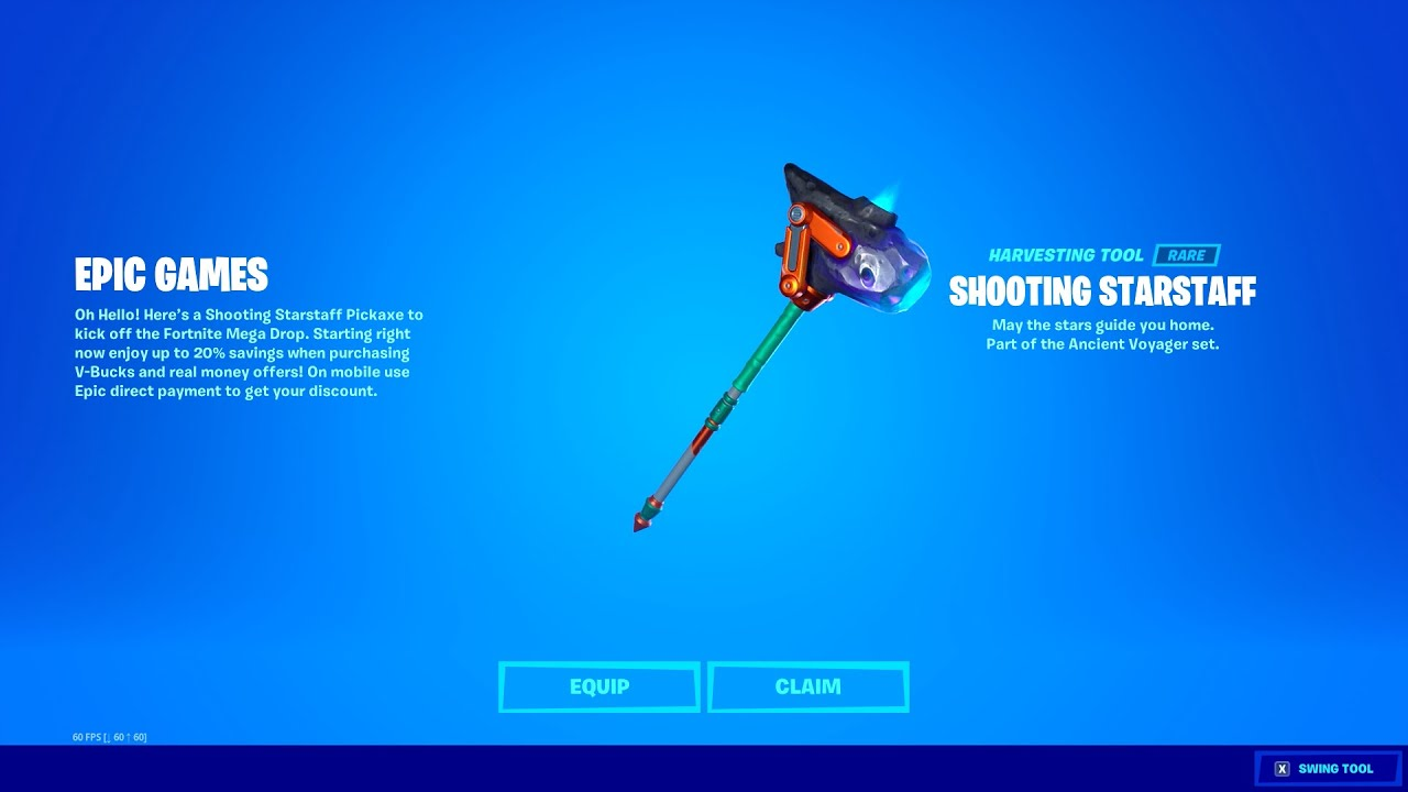 FREE PICKAXE for EVERYONE! (Shooting Starstaff)