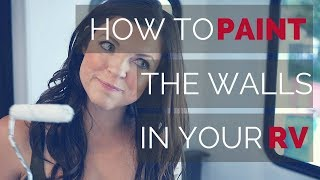 How to Paint Your RV Walls and Remove the Window Treatments   RV Renovations   Becoming Nomads