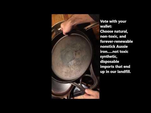 SOLIDteknics cast iron or steel skillet FAST stovetop seasoning