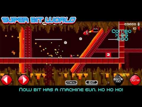 SUPER BIT WORLD - super meat boy style platform shooting game - free on android and iphone - HTMMG