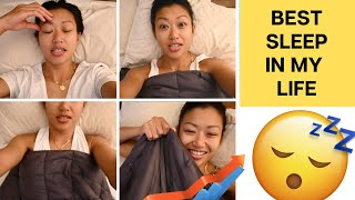I TRY A WEIGHTED BLANKET FOR 6 NIGHTS TO IMPROVE MY SLEEP