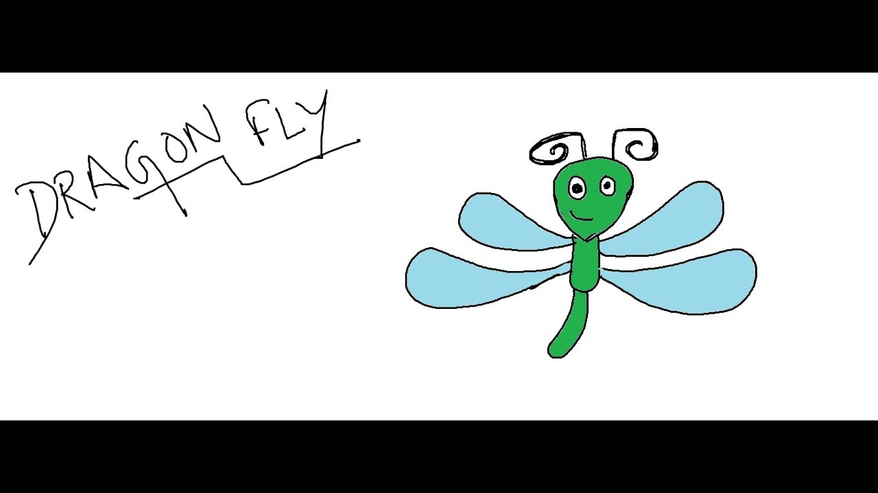 Easy kids drawing lessonshow to draw a cartoon dragonfly for kids