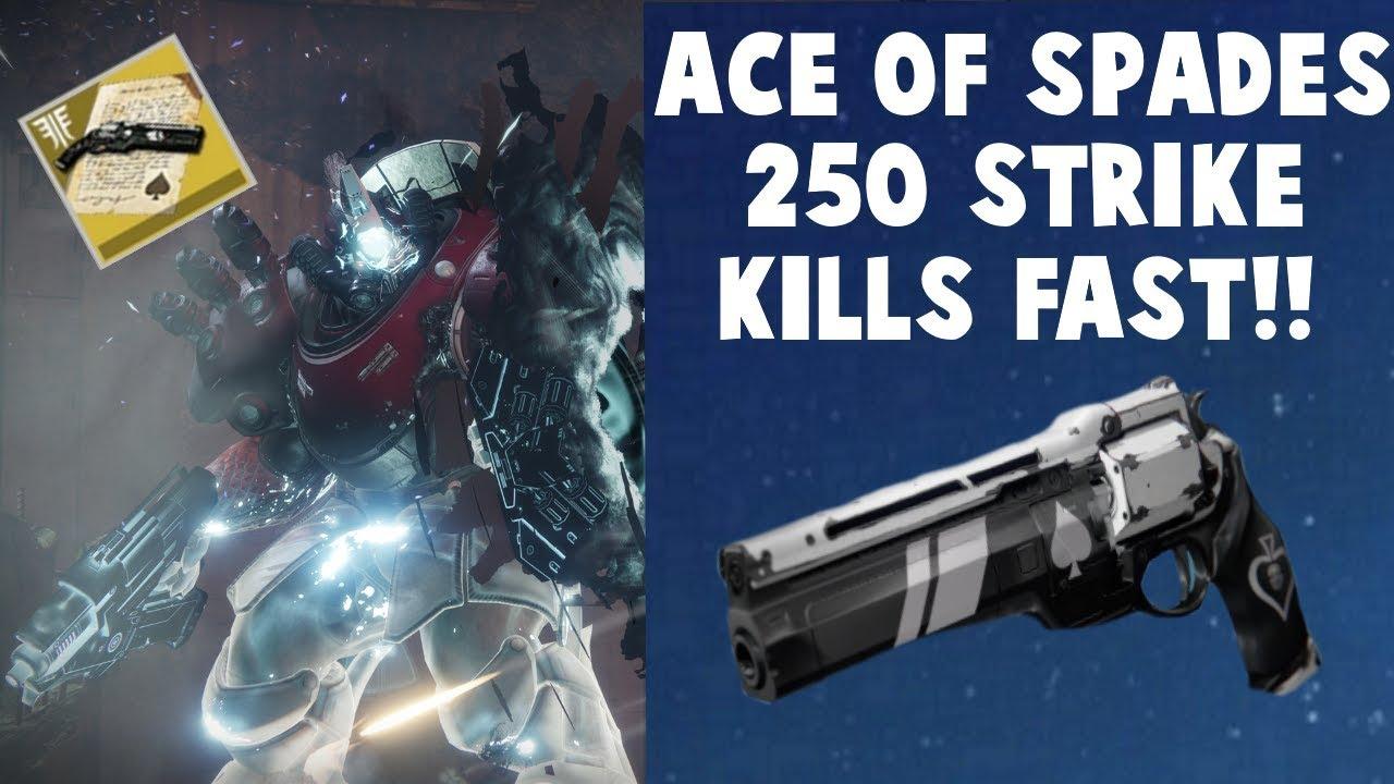 Destiny 2 Ace of Spades Quest - Super Fast 250 Strike Kills!