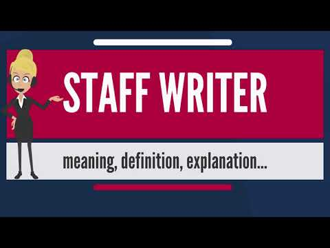 What is STAFF WRITER? What does STAFF WRITER mean? STAFF WRITER meaning, definition & explanation