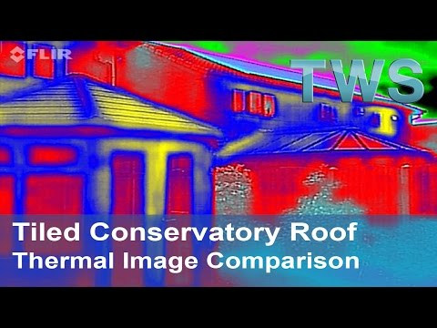 Tiled Conservatory Roof   Thermal Efficiency   Images Showing Thermal Properties