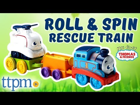 My First Thomas & Friends - Stack & Nest Thomas, Roll & Spin Rescue Train | Mattel Toys