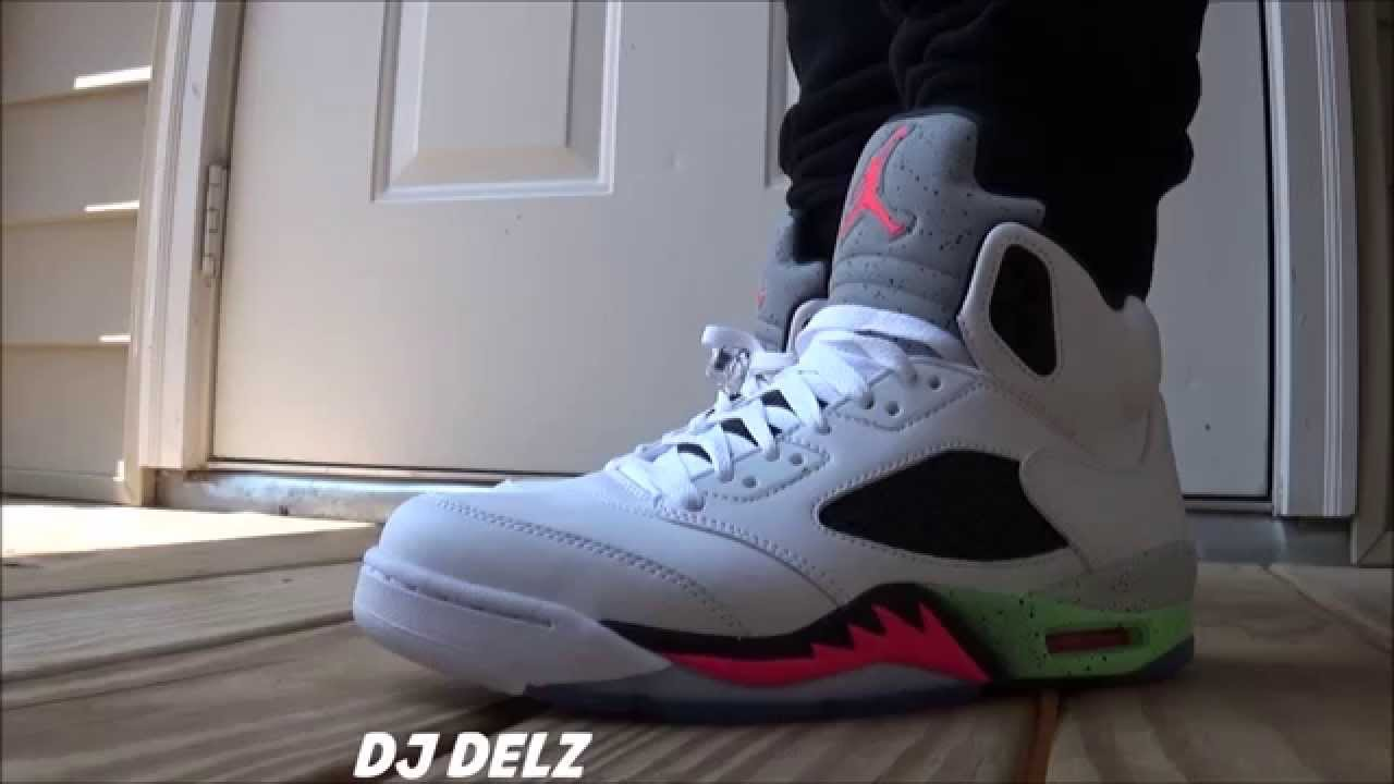Air Jordan 5 Space Jam Pro Stars Sneaker On Feet + Vlog - YouTube 46b27b418