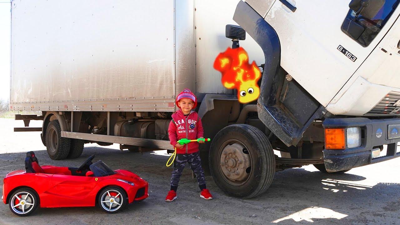 Camión se descompuso - Dima está reparando un camión