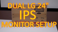 LG 24MC57HQ-P IPS Monitor Unboxing Overview.