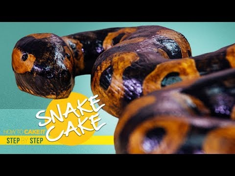 How To Make A SNAKE Out Of CAKE   Cake CARVING Tutorial   How To Cake It   Yolanda Gampp