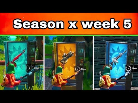 Claim Vending Machines In Different Matches||fortnite Season X Week 5
