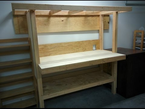 Build A Workbench From 2x4 S And Plywood Youtube