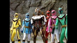 """Power Rangers Mystic Force - Solaris Knight vs Megahorn 