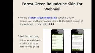 Responsive Roundcube Forest Green Mobile skin for Webmail