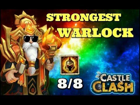 Castle Clash 8/8 WarGod Warlock! Strongest Warlock!