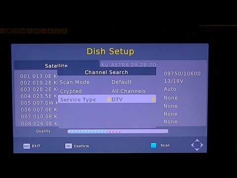 Xoro 8530 - How to Tune in TV Channels using Satellite Autoscan