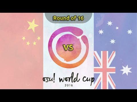 osu! World Cup 2016 | Round of 16 | China vs Australia /w Twitch Chat