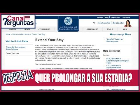 Como conseguir uma extensão de visto de turista nos EUA?✔