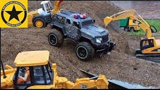 BRUDER Toys Tunnel Project Episode 12 S.W.A.T.- Team LOADER MACK DUMP TRUCK JCB Excavator
