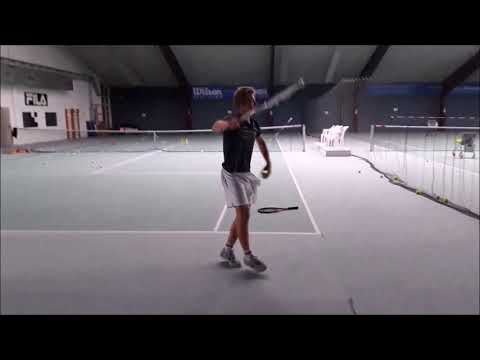 Tennis Drills - Technical Training - Corrective Drills - Correction of a serve with a lag