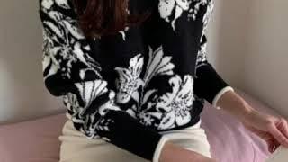 진주플라워니트티셔츠, 라운드겨울니트티