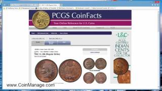 Using CoinManage With PCGS CoinFacts & Photograde