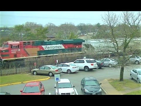 54 trains in 24 hours in Ames, Iowa: time-lapse