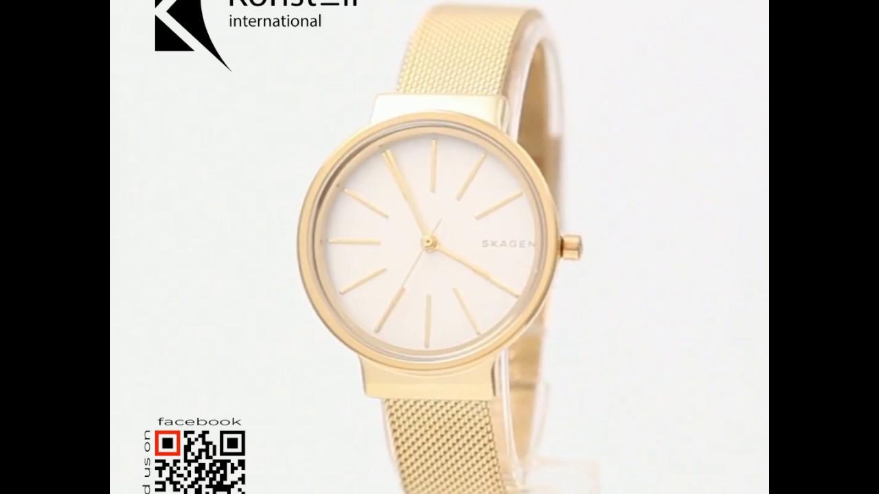 7d9ddeb3a13c Skagen SKW2477 - Ancher White Dial Gold Tone Mesh Ladies Watch ...
