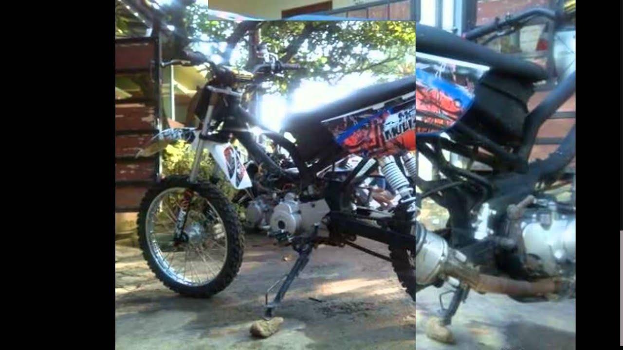 Garangnya Hasil Modifikasi Motor Bebek Suzuki Smash Menjadi Trail