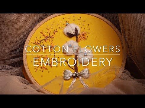 HAND EMBROIDERY  DESIGNS-STUMPwork - COTTON FLOWERS - PART 1