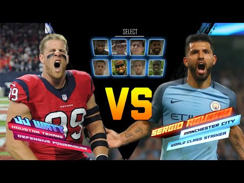 J.J. Watt & Sergio Aguero Go Head to Head in a Kicking Competition | NFL vs. Premier League