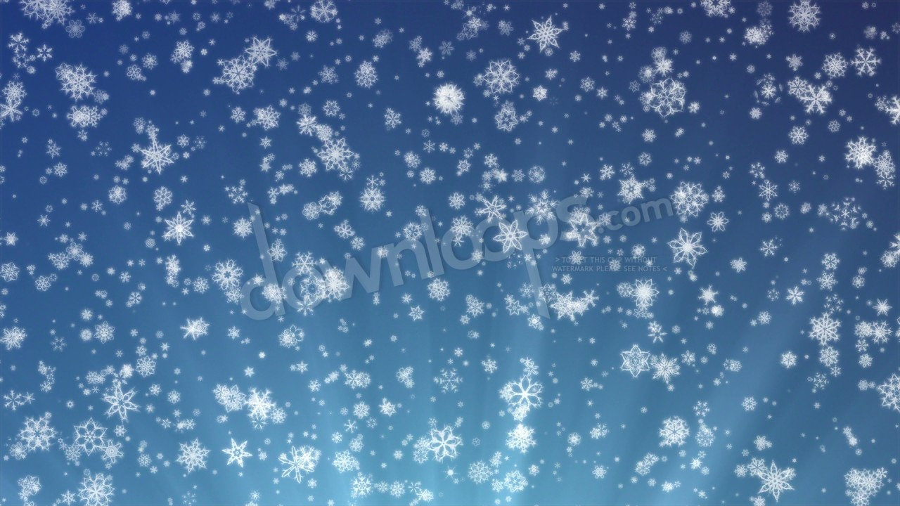 pretty snow snowflakes and christmas motion background video loop