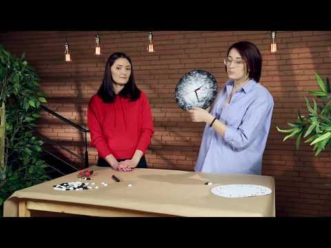Настенные часы своими руками видео