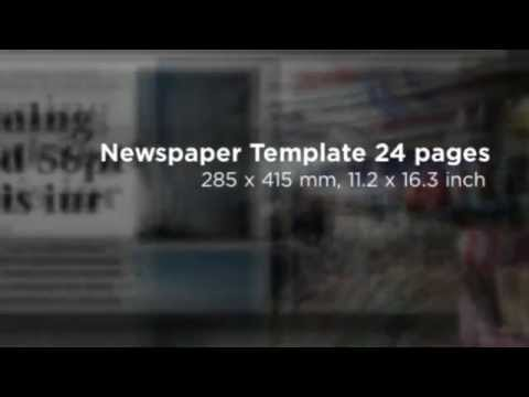 24 Pages Newspaper Template Youtube