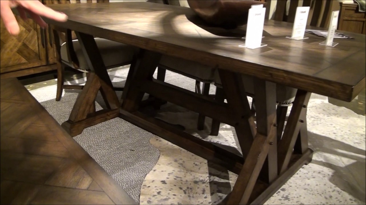 Broyhill Dining Room Table Pieceworks Trestle Dining Room Set With Bench By Broyhill Youtube