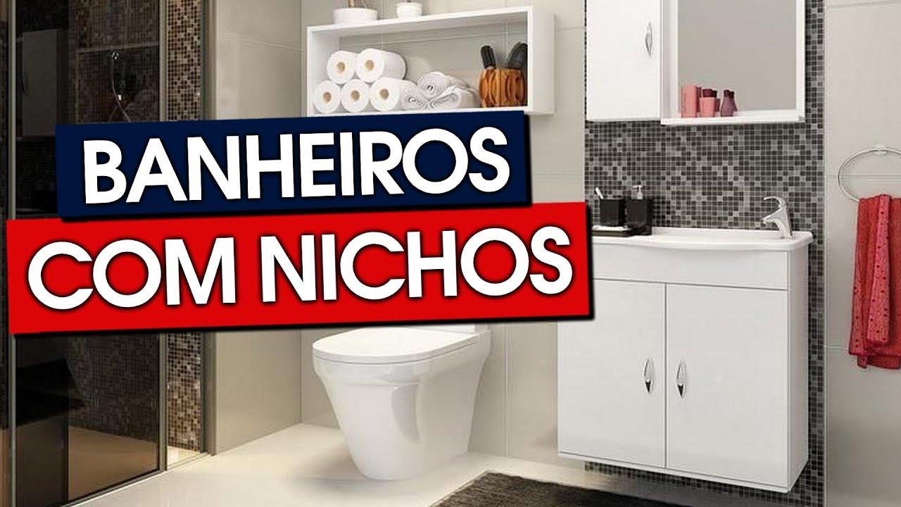 Banheiros Com Nichos Mdf Porcelanato Embutidos
