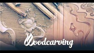 Carving wood on furniture ►► Timelapse Резьба по дереву Мебель