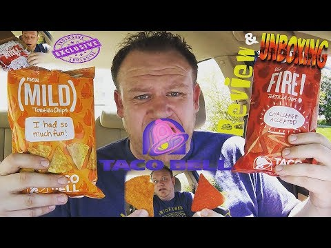 Taco Bell ☆TORTILLA CHIPS☆ EXCLUSIVE Unboxing & Review!!!
