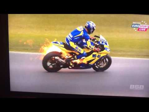 Taylor MacKenzie bike fire WITH jump off