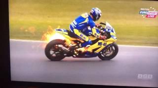 Taylor MacKenzie bike fire WITH jump off