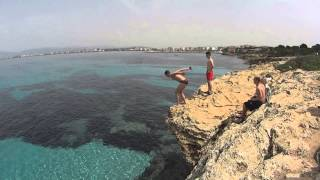 full cliff jumping video made in El Arenal, Mallorca