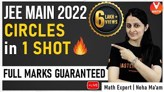 JEE Main 2020 | Circles IIT JEE in 1 Shot By Neha Ma'am | JEE Main Maths Super Revision | Vedantu