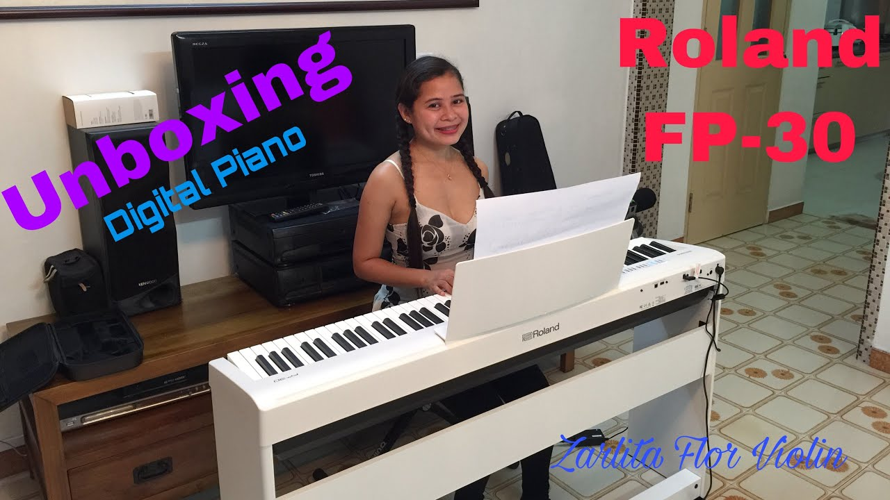 Unboxing My New Roland Fp30 Digital Piano Youtube