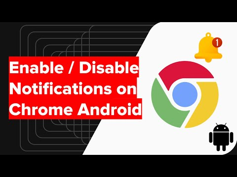 How to Enable / Disable Notification 🔔 on Chrome for Android Phone?
